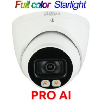 Dahua - IPC-HDW5442TM-AS-LED-0280B - 4 MP AI Full Color Starlight+ Мрежова IP Камера с Осветление до 17 м, 25 к/с @ 4 MP, Обектив 2.8 мм, Микрофон, PoE, Onvif