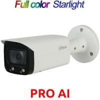 Dahua - IPC-HFW5442T-AS-LED-0360B - 4 MP AI Full Color Starlight+ Мрежова IP Камера с Осветление до 17 м, 25 к/с @ 4 MP, Обектив 3.6 мм, Аудио, PoE, Onvif