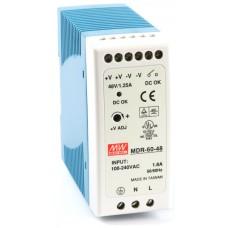 Mean Well - MDR-60-48 - Индустриално Захранване 48 Vdc / 1.25 A / 60 W