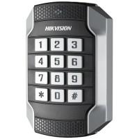 Hikvision - DS-K1104MK - Безконтактен Четец за Карти Mifare 13.56 MHz с Клавиатура за Външен Монтаж, w26 / w34, RS-485