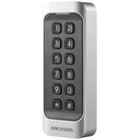 Hikvision - DS-K1107MK - Безконтактен Четец за Карти Mifare 13.56 MHz с Клавиатура за Външен Монтаж, w26 / w34, RS-485