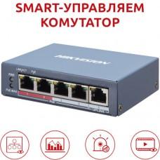 Hikvision - DS-3E1105P-EI - 4 Портов Smart Управляем PoE Мрежов Комутатор (Суич) с Общ PoE Бюджет 60 W