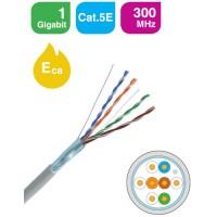 KELine - KE300S24-Eca/M - FTP (F/UTP) Екраниран Кабел, 4x2xAWG24, Категория 5E, 300 MHz, PVC, Euroclass Eca, на Метър