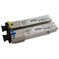 Wi-Tek - WI-SFP10-20KM - SFP Оптичен Модул 1.25 Gbps, Single-Mode, Single fiber, SC Конектор, 1310 nm / 1510 nm, 20 км, Комплект