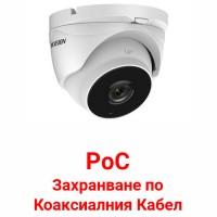 Hikvision - DS-2CE56D8T-IT3ZE - 2 Мегапикселова HD-TVI Камера за Външен Монтаж с Вградено IR Осветление до 40 м, 25 к/с @ 1080P, Обектив 2.8-12 мм, PoC (Захранване по Коаксиалния Кабел)