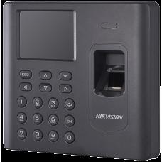 Hikvision - DS-K1A802EF-B - Самостоятелен Биометричен Контролер за Контрол на Работно Време, EM 125 kHz Карти, Батерия