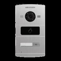 Hikvision - DS-KV8102-IM - Еднопостов Лицев Панел за IP Видеодомофонни Системи Hikvision, Камера 1.3 MP, Обектив 120°, Вграден Четец за Карти