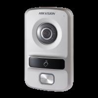 Hikvision - DS-KV8102-IP - Еднопостов Лицев Панел за IP Видеодомофонни Системи Hikvision, Камера 1.3 MP, Обектив 120°, Вграден Четец за Карти