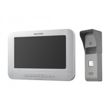 Hikvision - DS-KIS203 - Комплект Четирипроводна Видеофомофонна Система, Камера 720 x 576, Дисплей 800x480, IR Осветление