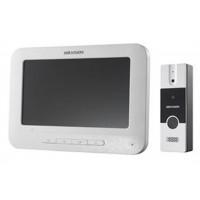 Hikvision - DS-KIS204 - Комплект Четирипроводна Видеофомофонна Система, Камера 720 x 576, Дисплей 800x480, IR Осветление