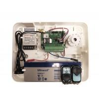 M2M - RControl-EU - Комплект Хибридна Безжична Алармена Система с Вграден GPRS Комуникатор, 8-32 Зони, 2 Дистанционни Управления, Кутия, Сирена, Захранване, Поддържа Безжични Датчици DSC, Смартфон Приложение