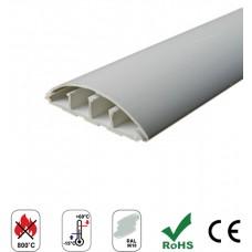 Courbi - Подов Кабелен Канал, 50 х 16 мм, U-PVC, Сив, Самогасящ се