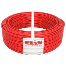 Elan - TW-0,5-GR3-RED - Трудногорим Екраниран Пожароизвестителен Кабел ELAN GR3 450V 2х0.5мм2 - 100 м, Червен