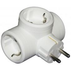 Legrand - Helium - Разклонител Щепсел 3 x 2P+E, Бял