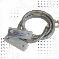 Сектрон Електроникс - SEC2071AR - Метален Магнитно Управляем Контакт (МУК) за Метални Врати с Метален Шлаух