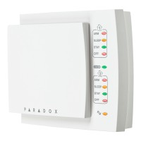 Paradox - K10H - 10 Зонова Жична LED Клавиатура (Хоризонтална)