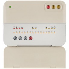 Teletek - Bravo EXT - Безжичен Алармен Панел с Външно Захранване, Двупосочна Комуникация, 868 MHz, 1 Група, до 16 Зони, до 8 Дистанционни, Вградена Сирена