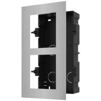 Hikvision - DS-KD-ACF2/S - Двойна Модулна Рамка за Вграждане от Неръждаема Стомана