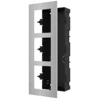 Hikvision - DS-KD-ACF3/S - Тройна Модулна Рамка за Вграждане от Неръждаема Стомана