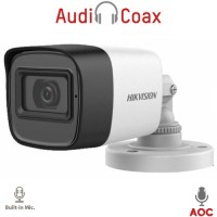 Hikvision - DS-2CE16D0T-ITFS - 2 MP 4 в 1, HD-TVI / HDCVI / AHD / CVBS Камера с IR Осветление до 30 м, 25 к/с @ 1080P, Обектив 3.6 мм, Микрофон, (AoC) Audio Over Coaxial