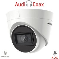 Hikvision - DS-2CE78D0T-IT3FS - 2 MP 4 в 1, HD-TVI / HDCVI / AHD / CVBS Камера с IR Осветление до 40 м, 25 к/с @ 1080P, Обектив 3.6 мм, Микрофон, (AoC) Audio Over Coaxial